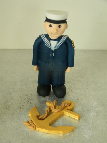 Navy Theme Cake Toppers
